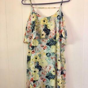 Floral Chiffon Maxi Dress - S